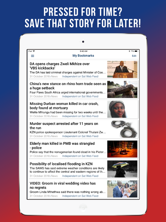 iPad Image of Independent on Saturday