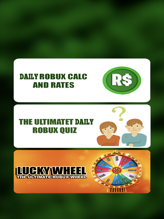 1 Daily Robux For Roblox Quiz App Price Drops