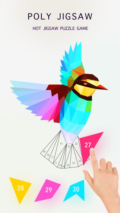 Poly Jigsaw - 私塗り絵本のおすすめ画像1