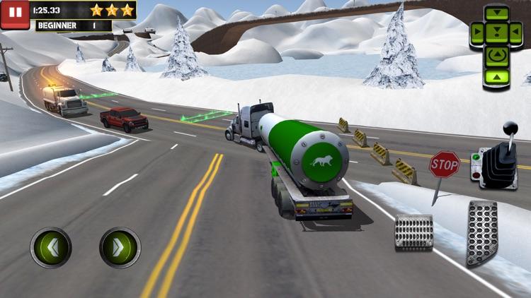 Ice Road Truck Parking Sim