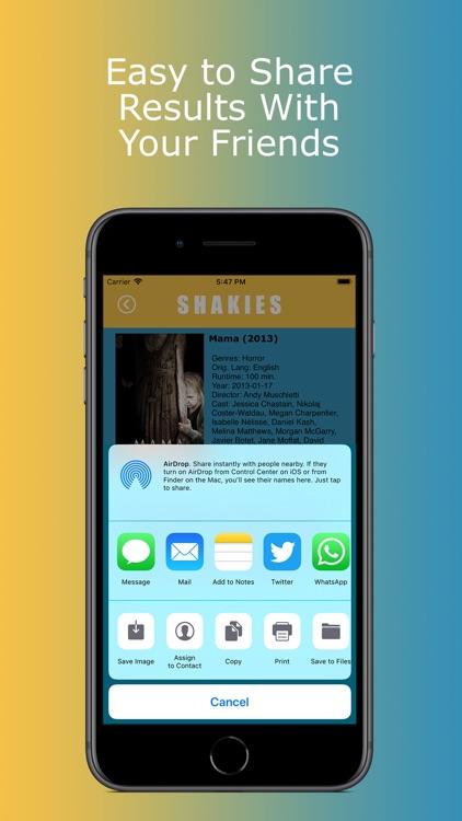 Shakies: Shake for Movies screenshot-3