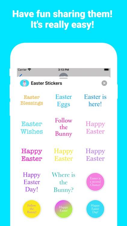 Happy Easter for iMessage screenshot-4