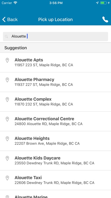 Taxi Maple Ridge >> Alouette Taxi By Piccolo Software