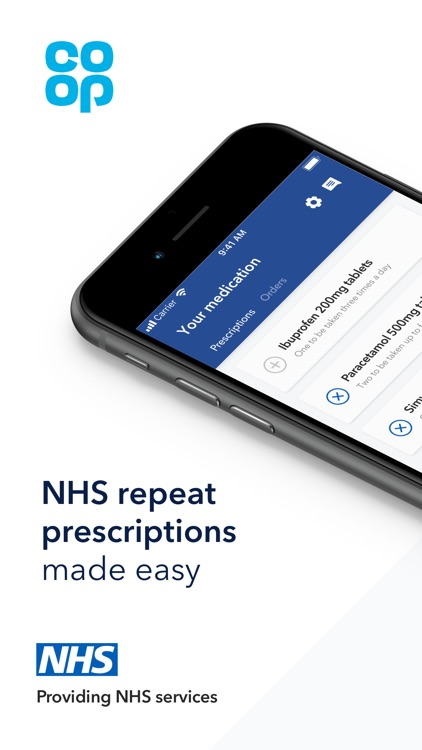 Co-op NHS Repeat Prescriptions