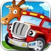 宝宝汽车游戏-快乐儿童abc小火车拼图游戏