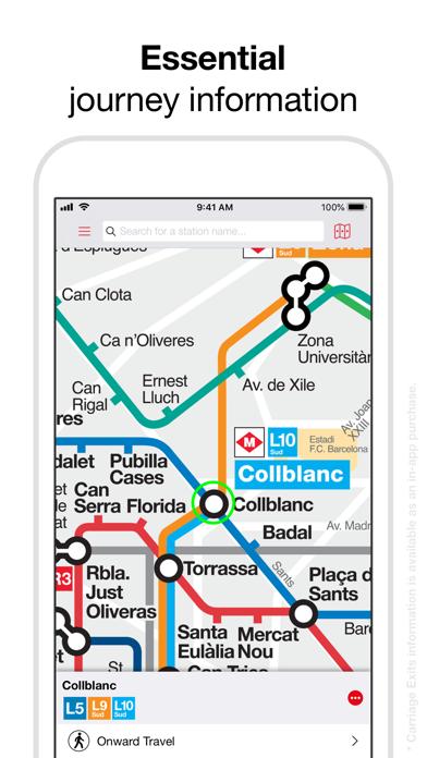 Barcelona Metro - TMB Map screenshot two
