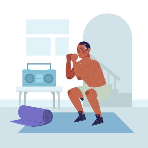 200 Squats Challenge icon