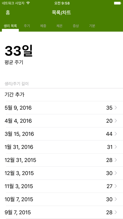 cancel 생리 달력 라이트 (Period Tracker) Android 용 2