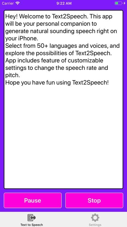 Text2Speech.
