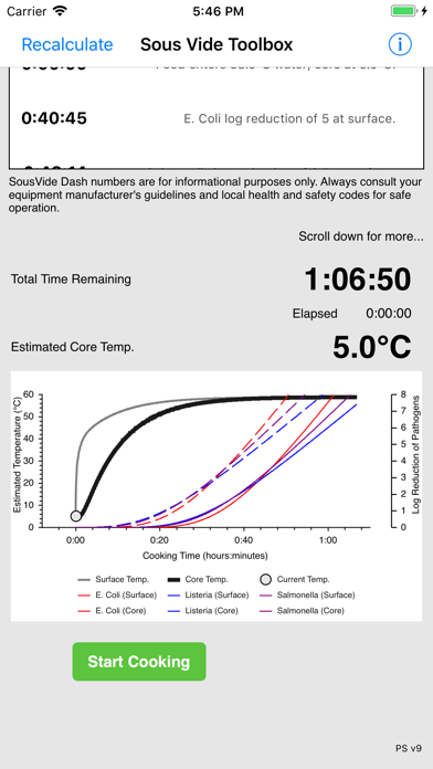 Polyscience Sous Vide Toolbox review screenshots