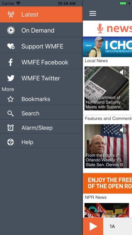 WMFEPublicRadioApp screenshot-3