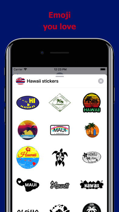 Hawaii emojis - USA stickers screenshot 2
