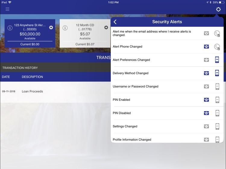 Bank of Akron Personal foriPad screenshot-5