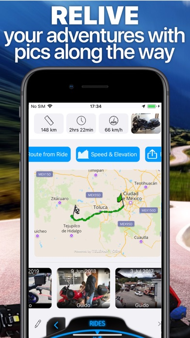 Scenic Motorcycle Navigation Screenshot