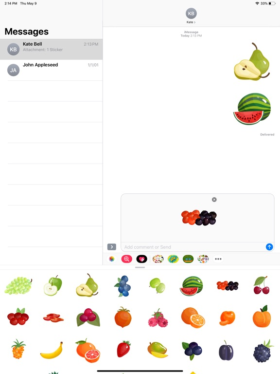 Fruit Delicious Stickers screenshot 5