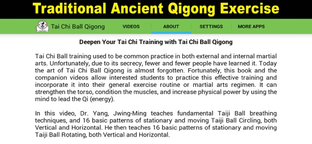 Tai Chi Ball Qigong on the App Store