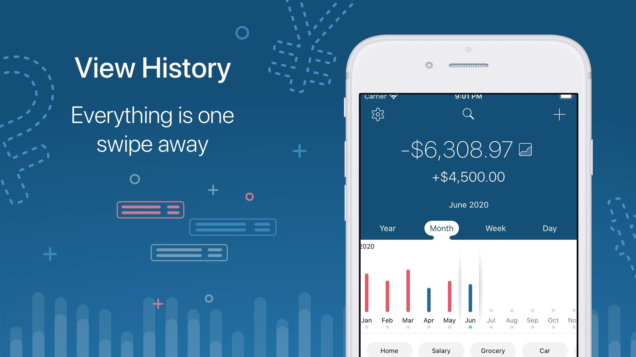 Screenshot do app 5coins Simple expense tracker