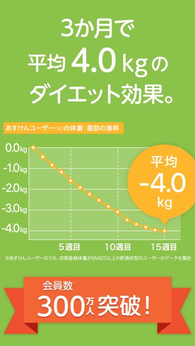 あすけんダイエット 体重記録とカロリー管理アプリ ScreenShot0