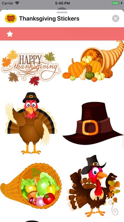 Thanksgiving Stickers screenshot-5