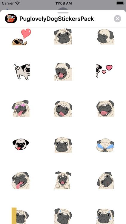 Pug love Dog Stickers Pack screenshot-3