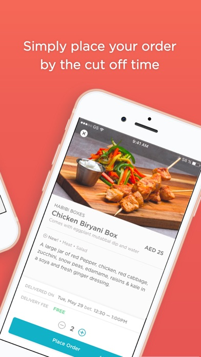 Screenshot for LUNCH:ON - Food delivery in United Arab Emirates App Store