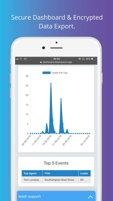 leadr Data Capture screenshot four