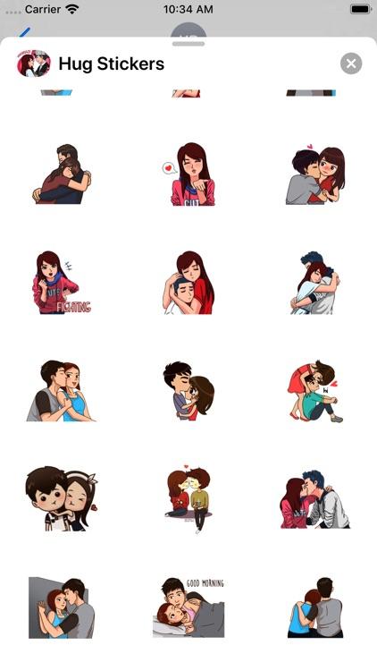 Hug Stickers