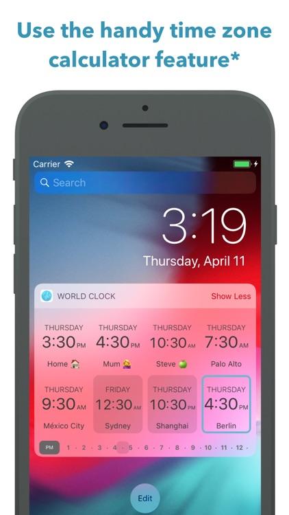 World Clock Time Widget screenshot-6