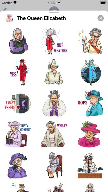 The Queen Elizabeth Stickers