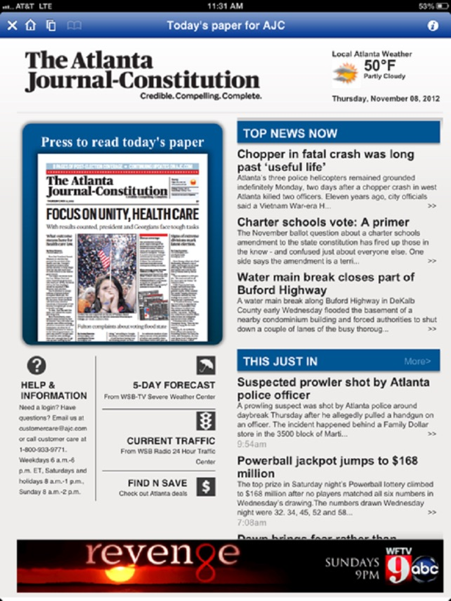The AJC ePaper on the App Store