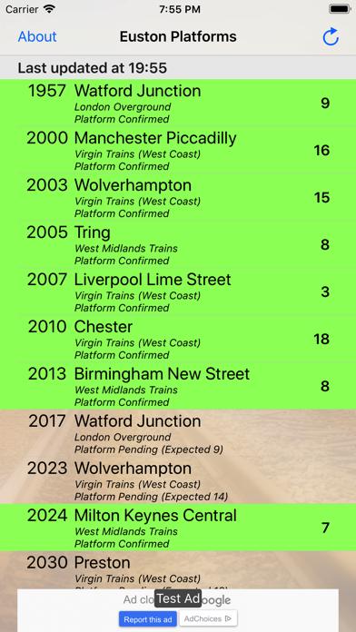 Euston Platforms screenshot two