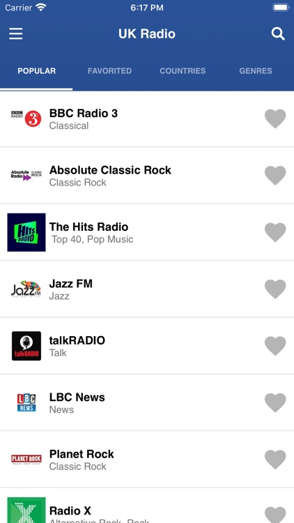 UK Radio Stations Live