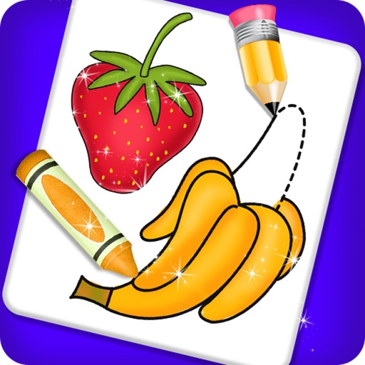 Fruits and Vegetable Coloring icon
