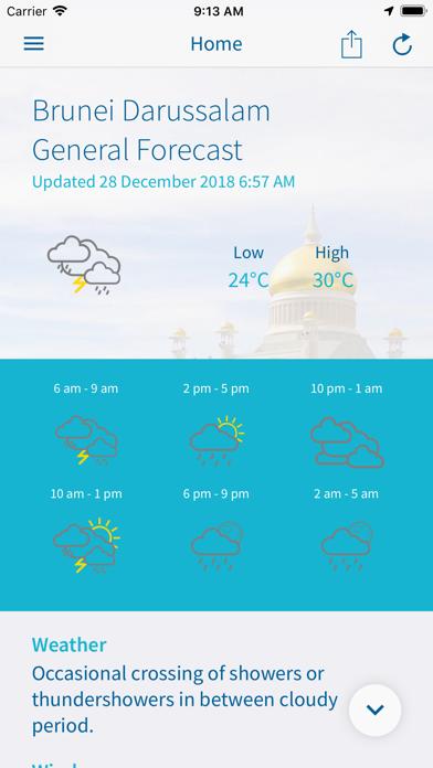 Brunei WX screenshot two