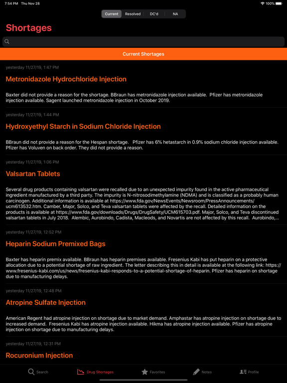 AHFS Clinical Drug Information screenshot