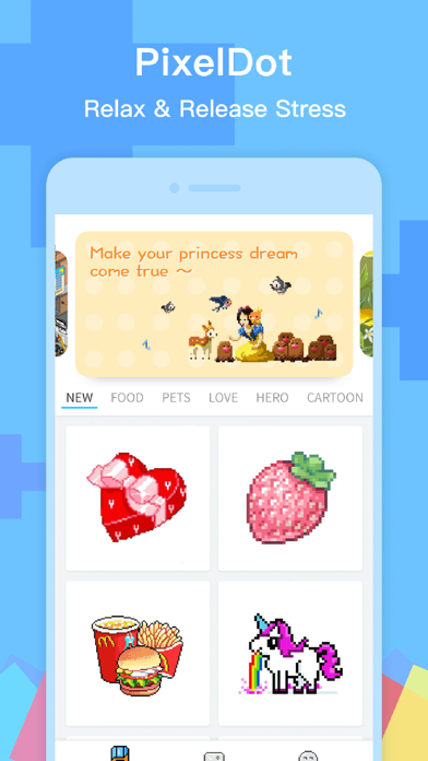 PixelDot - Color by Number screenshot one