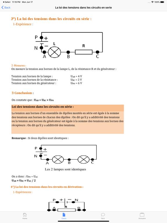 Physique 4ème screenshot 8