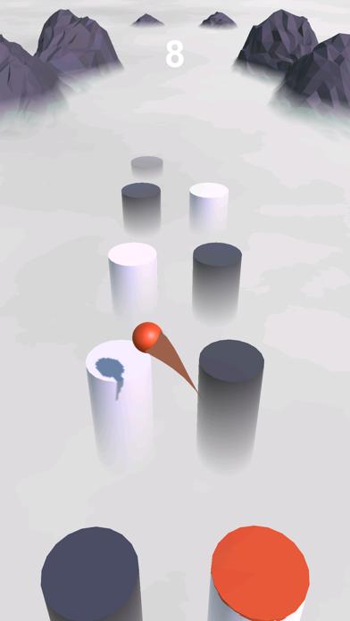 Ball Hop 3D - Through Clouds Screenshot on iOS