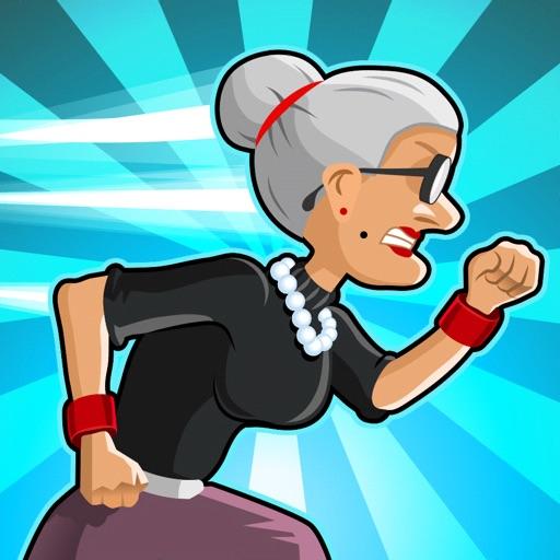 愤怒的老奶奶跑酷app icon图