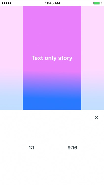 Text Only for Instagram