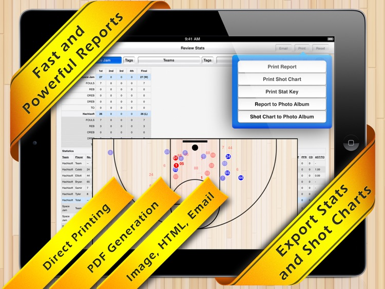 Basketball Stat Tracker HD screenshot-1