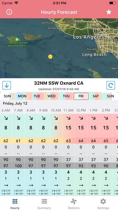 Wind Speed Forecast App screenshot 1