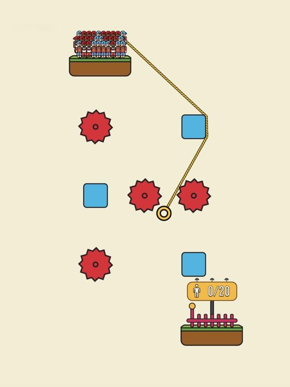iPad Image of Rope Rescue! - Unique Puzzle