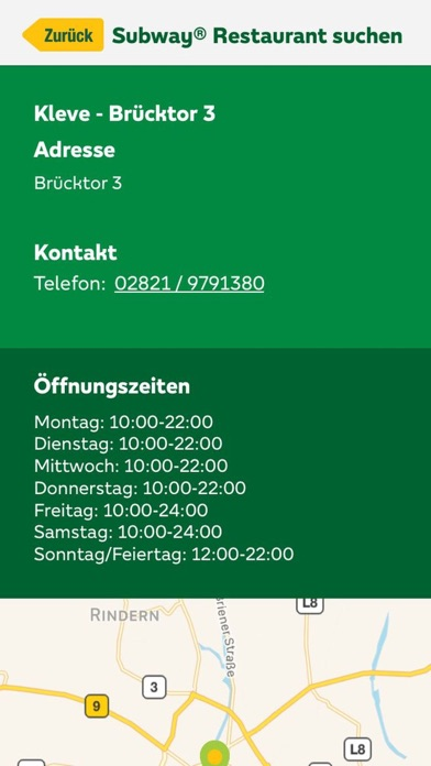 Screenshot for SUBWAY® SUBCARD™ in Germany App Store