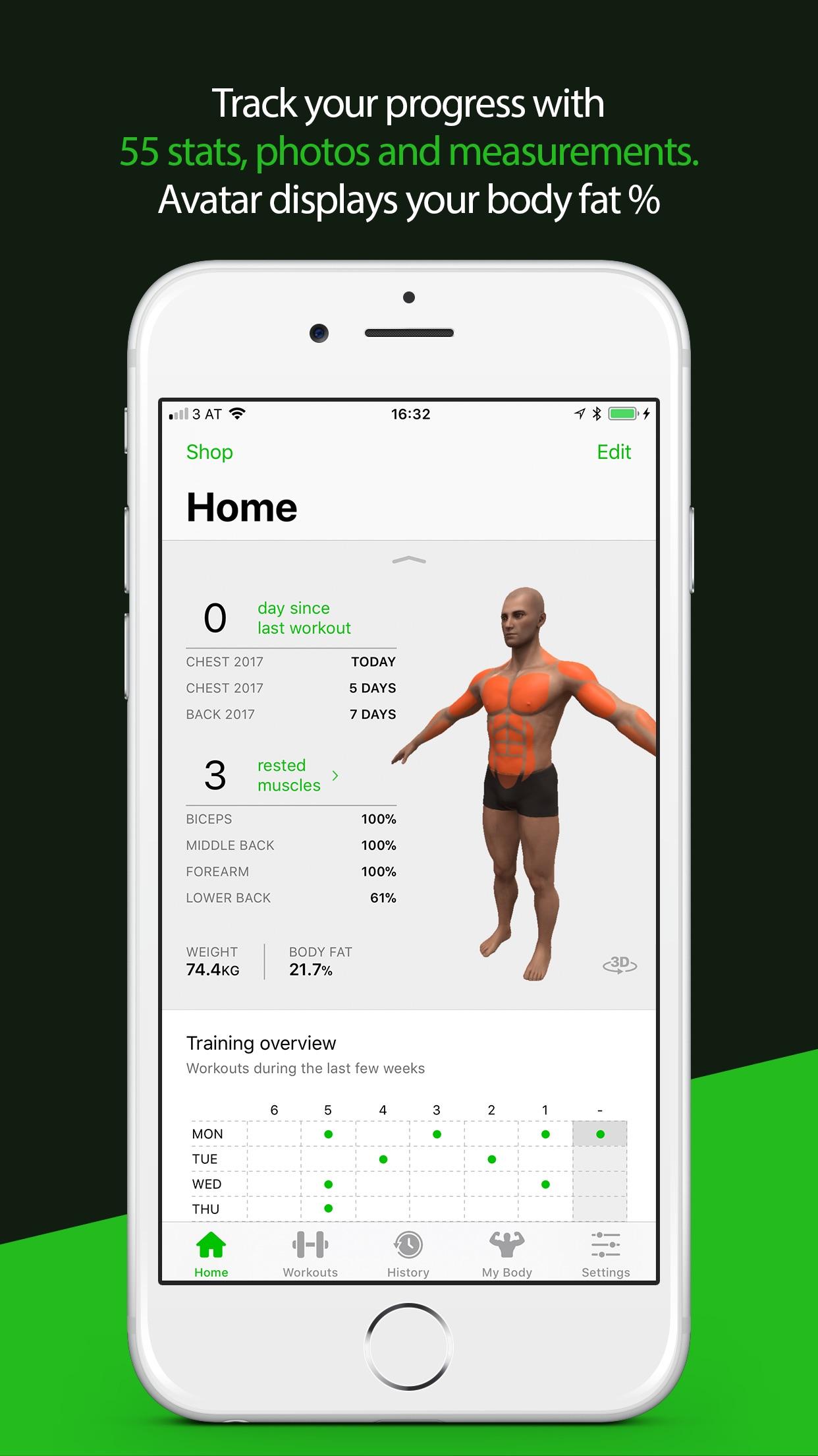Gymaholic Workout Tracker Screenshot