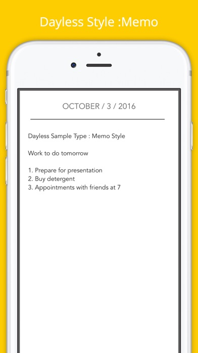 Dayless - Simple Diary App Screenshots