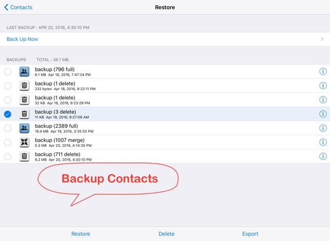 Delete Contacts+ on the App Store