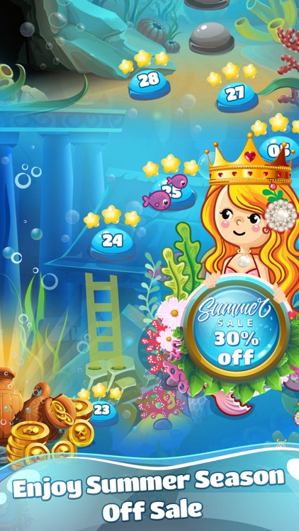 Mermaid Pearl - Match 3 screenshot-7