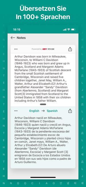 Textgrabber Kamera übersetzer Im App Store