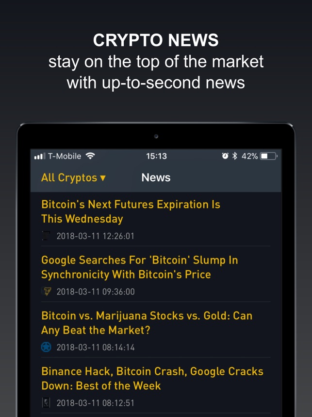 best cryptocurrency app iphone price